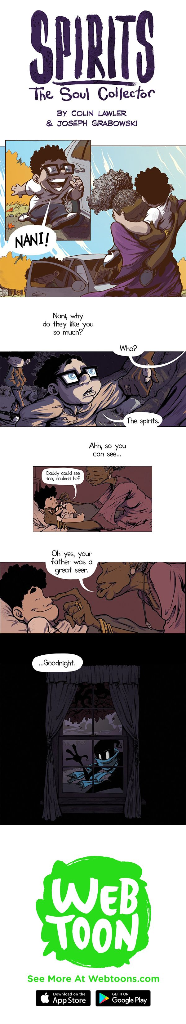 Two young brothers discover a dark and mystical family secret, in Spirits. New each Friday, only on Webtoons.com.