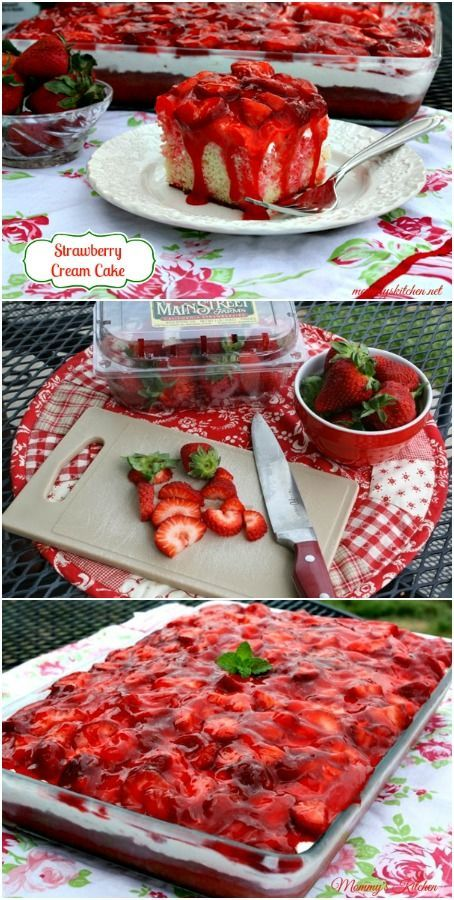 Easy Strawberry Cream Cake. This is the cake to make to impress your guests.