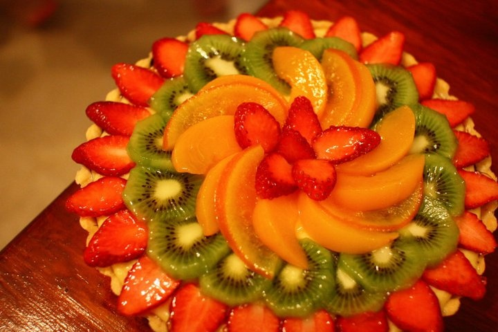 custard fruit flan recipe - Google Search