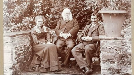 The young Beatrix Potter, her Father,& Brother, photographed on holiday.