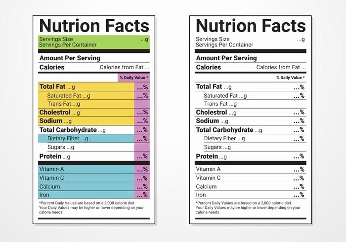 Free Food Label Template Lovely Nutrition Facts Label Vector Templates Download Free Food Label Template Label Templates Nutrition Facts Label