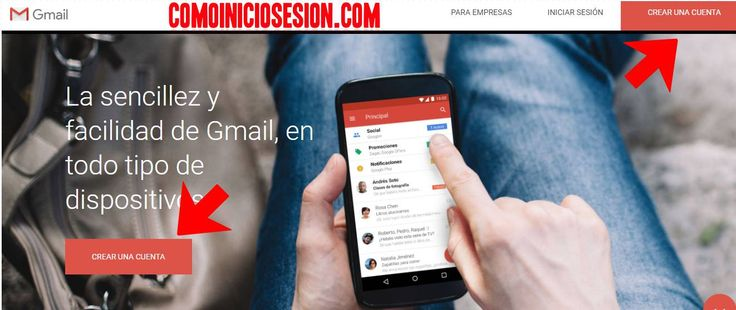 Crear una cuenta Gmail en sencillos pasos. http://comoiniciosesion.com/crear-cuenta-gmail/ #crearcuentagmail
