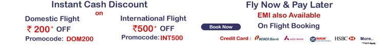 Book your cheap air travel tickets for domestic & international in India at lowest price & save upto Rs 500