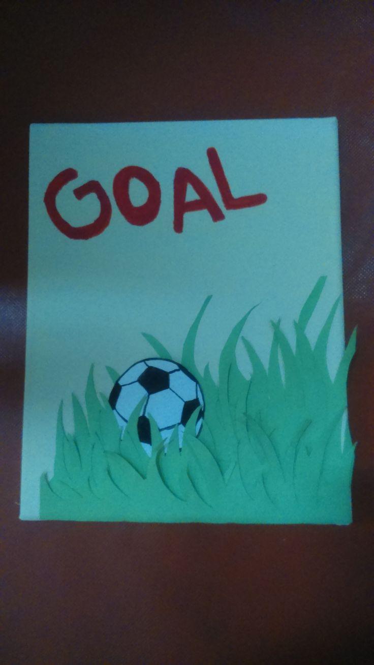Football handmade canvas