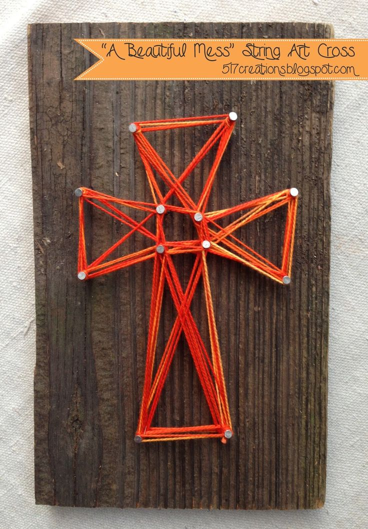 "517 creations: ""a beautiful mess"" string art cross..."