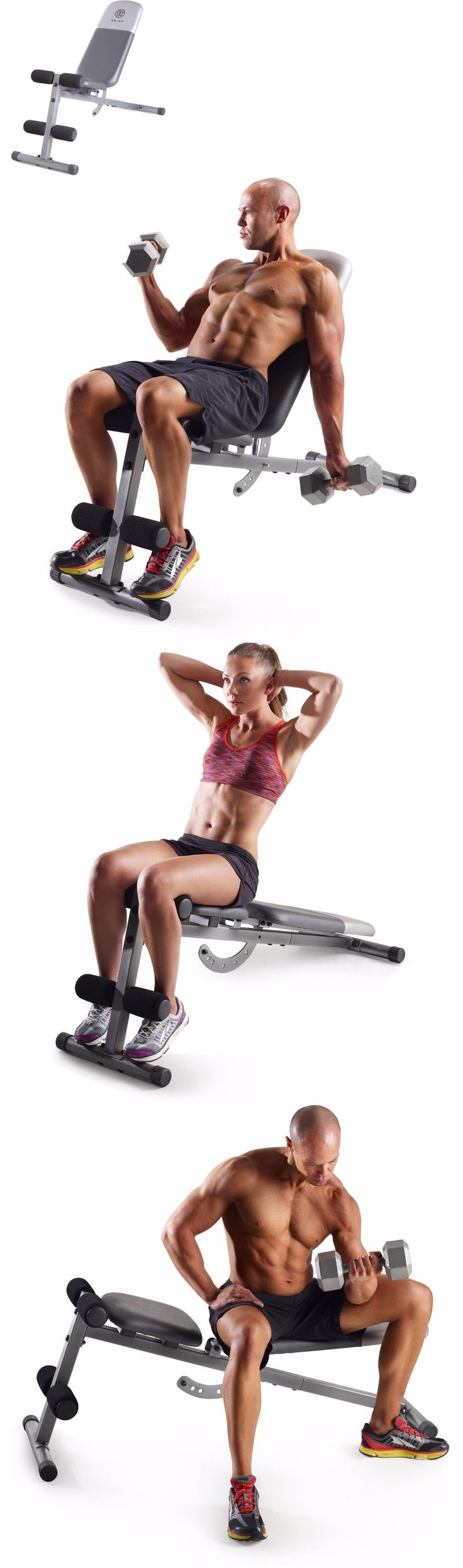 Benches 15281: Golds Gym Utility Adjustable Bench Workout Weight Exercise Home Training Ab New -> BUY IT NOW ONLY: $55 on eBay!