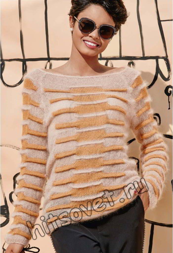 Джемпер вязание, фото 2.