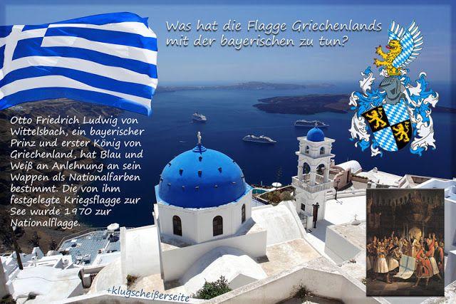 Was hat die griechische Flagge mit der bayerischen zu tun?