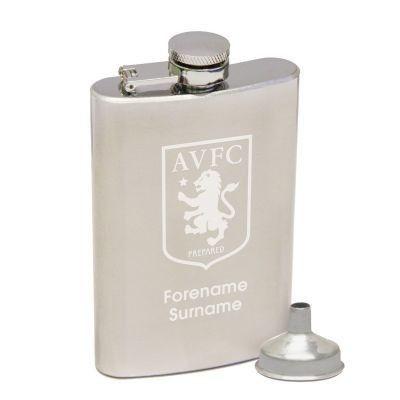 Personalised Aston Villa Football Club hip flask #AstonVilla #Football #FootballGifts #Villa #HipFlask £29.95