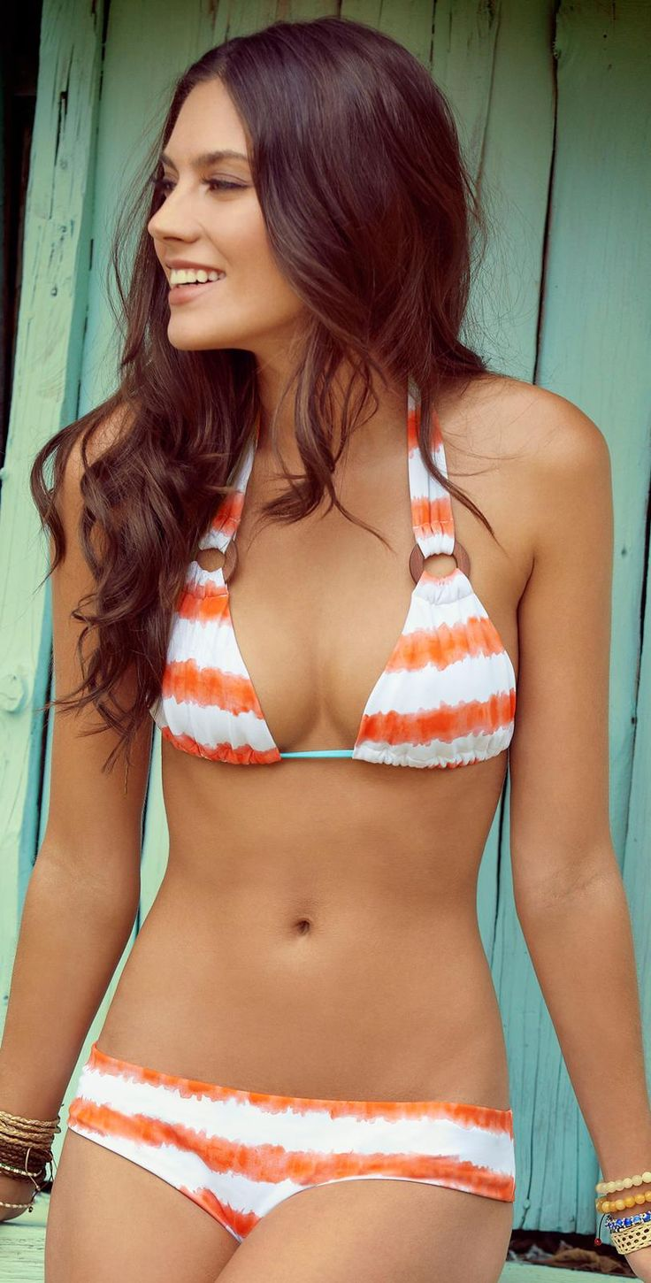 Ondade Mar 2013 Awa Striped White Bikini