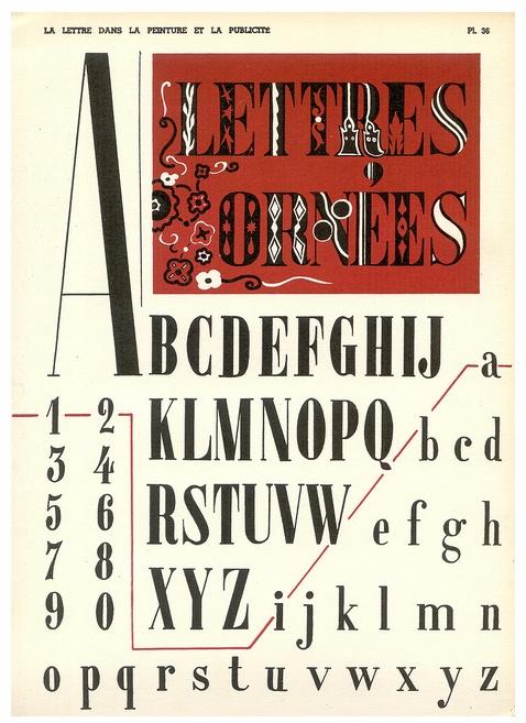vintage french font