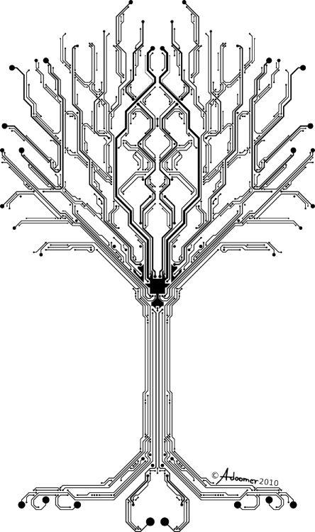cypulchre:  Tree of digital lifebyadoomer