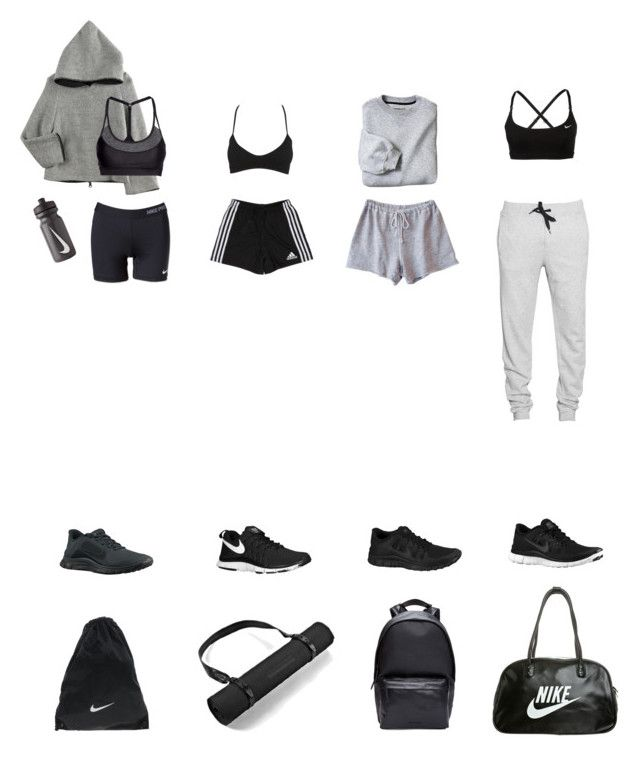 """""""Sporty"""" by xirix ❤ liked on Polyvore featuring NIKE, adidas, Wet Seal, Oeuf, Clu, H&M, Trax and Givenchy"""