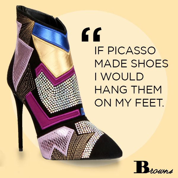 Browns Shoes Guiseppe Zanotti Bootie: Picasso made shoes, I would hang them  on my feet