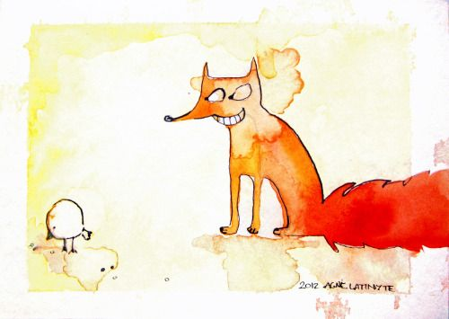 """The fox was really content with this little finding. """"Dinner"""", he thought."""
