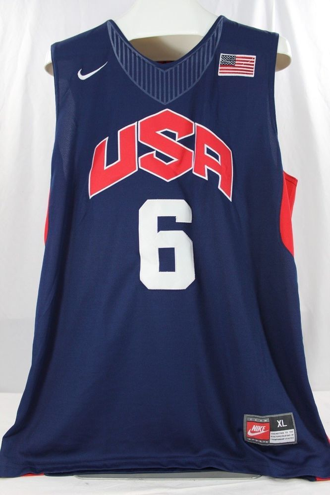 best loved c36e9 fcf92 Details about NWT Nike Lebron James #6 Olympic Jersey 2012 ...