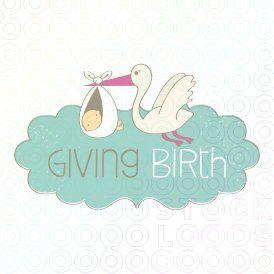 Giving Birth logo #stocklogos #logosale