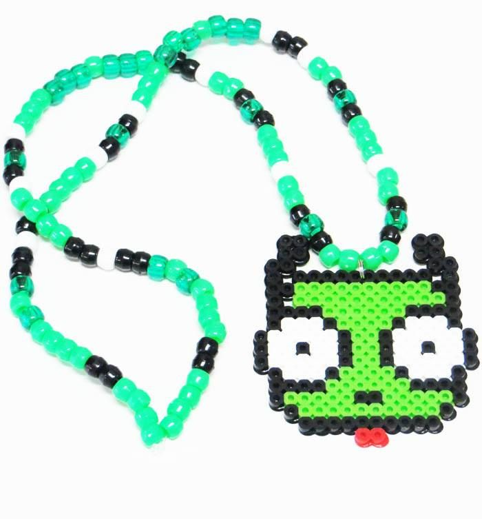 Be prepared to make the crowd GREEN WITH ENVY! Once they see you in this Froggy Kandi Necklace. The high quality beads and the craftsmanship expresses an awesome style and long lasting product. It is