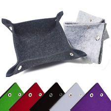 Fashion Felt Jewelry Storage Organizer Valet Tray Dresser Box Wallet Phone Keys