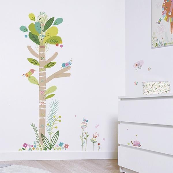 Los medidores de vinilo suelen ser una bonita alternativa para decorar un trocito de la pared de la habitación del bebé. Su forma más alargada que ancha permite colocarlos en esos espacios que a veces quedan vacíos, en la puerta o en una de las paredes del armario. Pero como son tan bonitos que por …