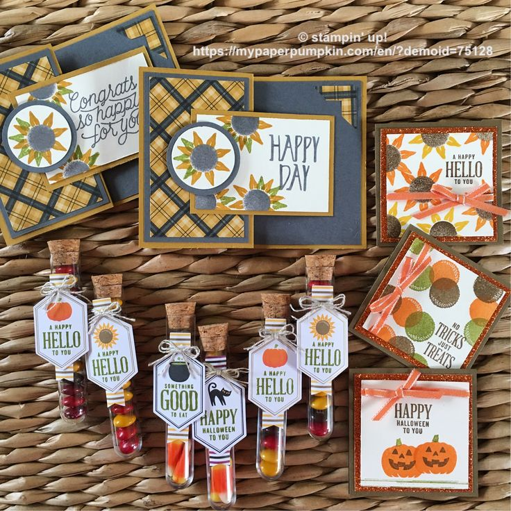 After finishing the projects in my September's Paper Pumpkin kit, I decided to create a few cards with the set! I love the 3 note cards with the new pumpkin pie glimmer paper! 🎃 be a new subscriber and use promo code BOGO to receive the 2nd month FREE! https://mypaperpumpkin.com/en/?demoid=75128