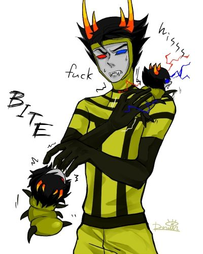 small grub picture with psiioniic mituna and sollux