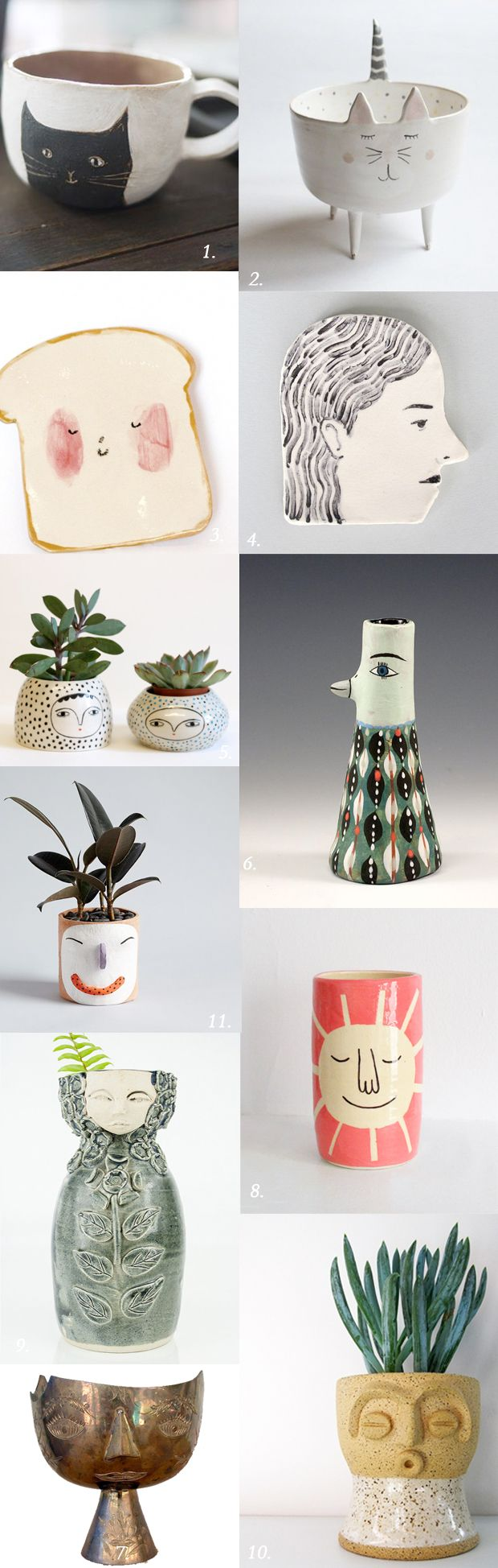 thrilled our artist-made Face Planter (#11) was included in Justina Blakeney's Vessels With Personality post :D