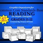 Common Core Standards Graphic Organizers for ELA Reading Literature and Informational Texts Grades 11-12. Essential tools for implementing the Common Core State Standards.
