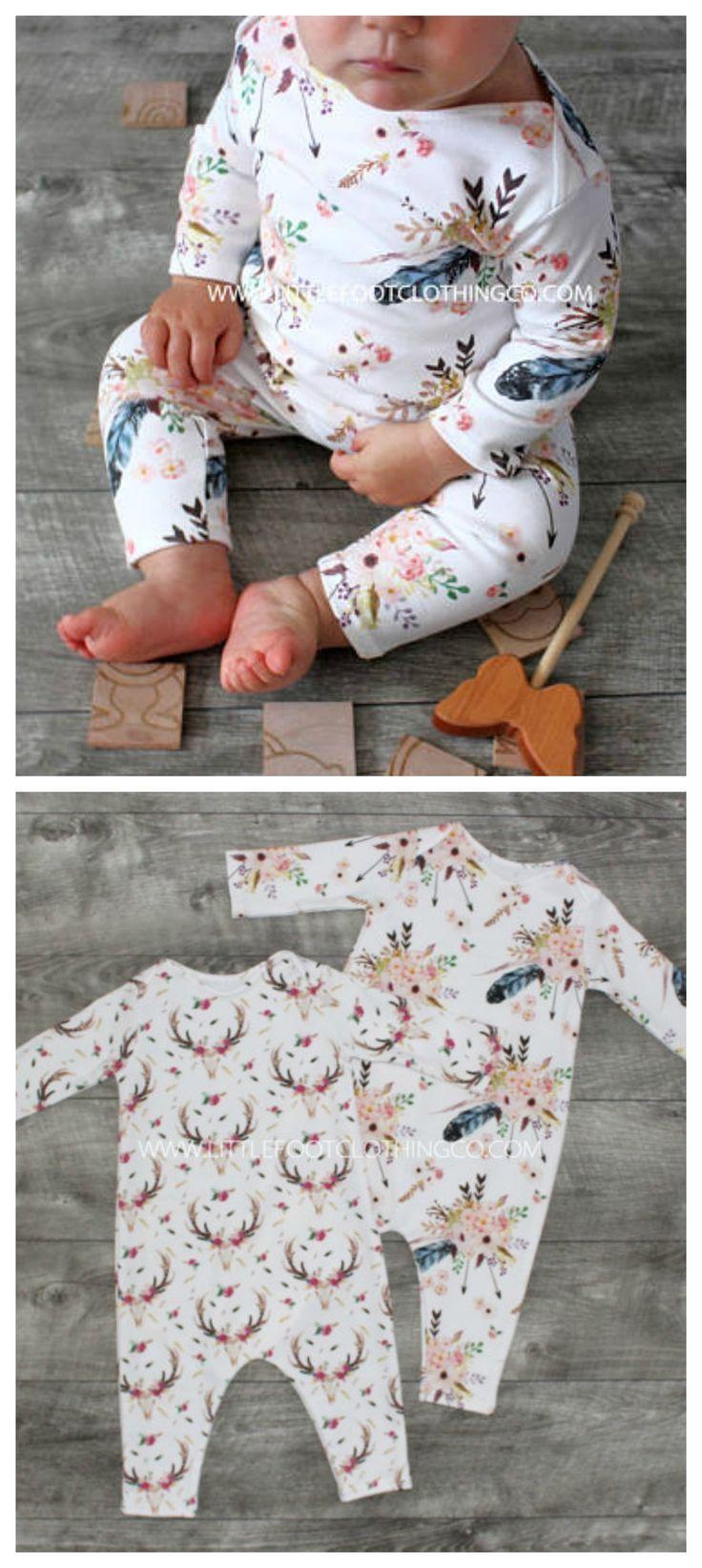 Barboteuse bébé fille, vêtements bébé fille, barboteuse bio, vêtements bio bébé, boho …   – Nähen für Kinder