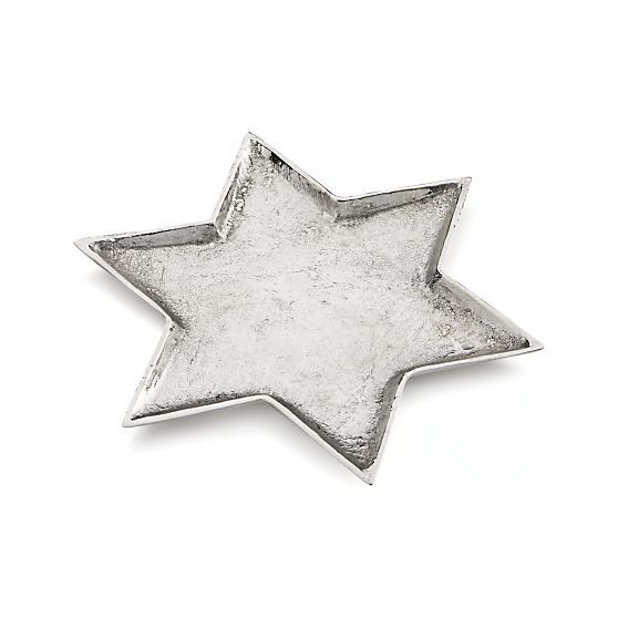 Star of David Candle Plate in Candle Holders   Crate and Barrel