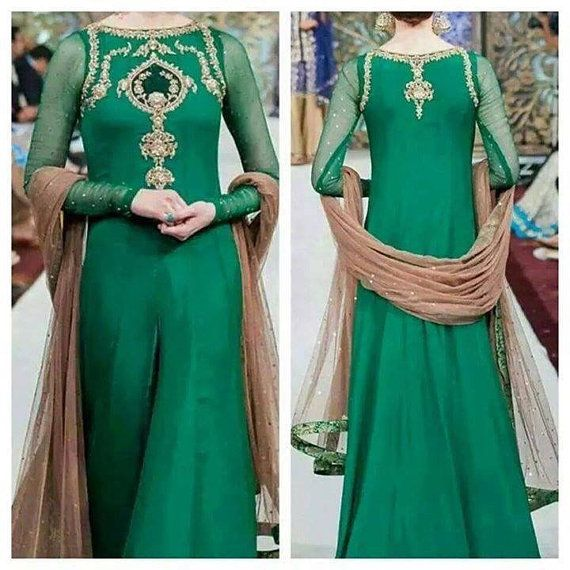 Formal party wear Indian Pakistani traditional element gown, CUSTOM ORDER ONLY