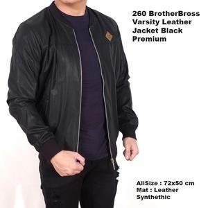 jaket varsity  kulit hitam cowok pria / jaket import ( best seller) Limited