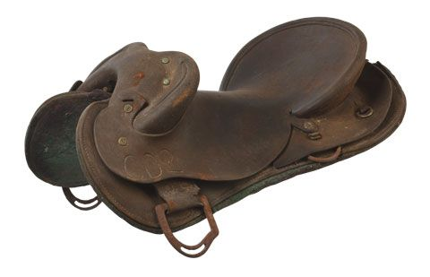 Saddle from Newry station, a Connor, Doherty and Durack property, 1930–50.