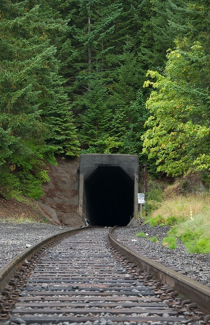 "Tunnel 13, Ashland, Oregon... site of the ""last great train robbery in the west,"" one of the most haunting places"