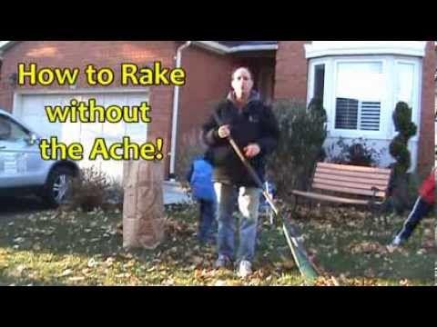Toronto Chiropractor Tips - Proper Raking Technique. www.welcome-back.ca