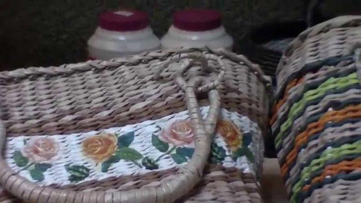 """Elena Tischenko's tutorial of """"How to weave a paper bag_part 4"""""""