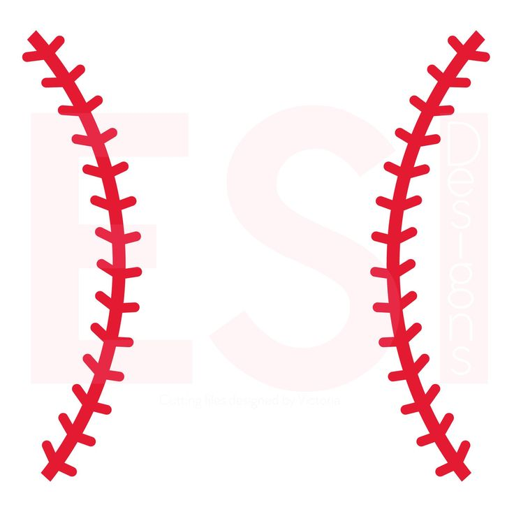 Baseball Stitches SVG Cutting File