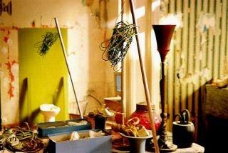 the artist's studio~