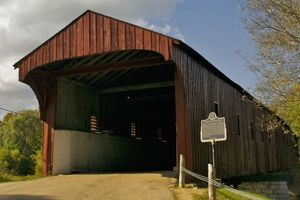 The Kissing Bridge, St. Jacob's - One of a few remaining covered bridges in Ontario, Canada.