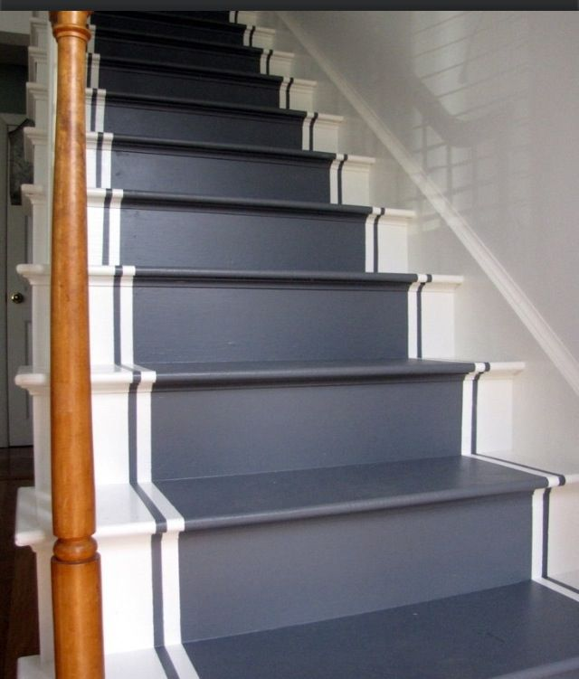 Painted stairs basement ideas pinterest painted stairs stairs and laundry - Basement stair ideas pinterest ...