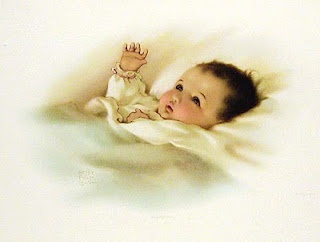 had this sweet picture hanging in my boys' nursery when they were babies...<3