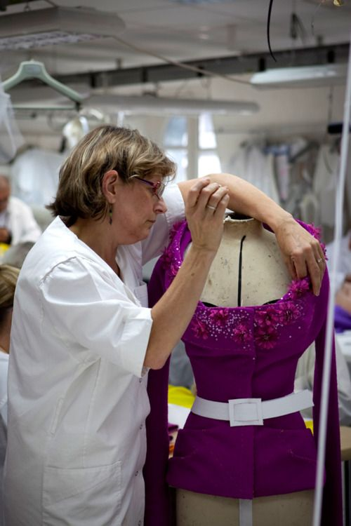 christian dior haute couture work room