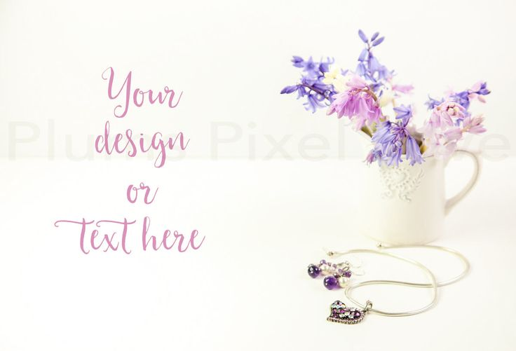 Styled Stock Photos | Bluebells | instagram | white jug | Overlay text | Digital Image | business promotion| copy space | jewellery  SSP55 by plumspixellove on Etsy