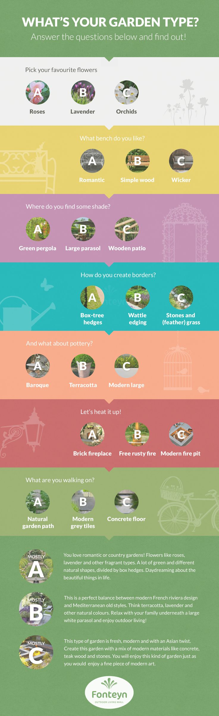 Copy this Garden Quiz on your website!   #garden #quiz #infographic #tuin #Fonteyn    Add the link:  http://www.fonteyn.nl/tuinmeubelen/   COPYRIGHT!