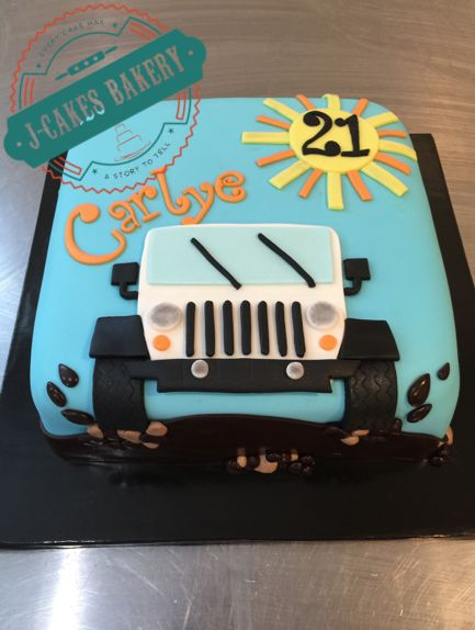 21st Birthday Jeep Wrangler Cake!