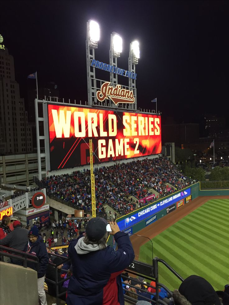 Cleveland Indians- World Series game 2