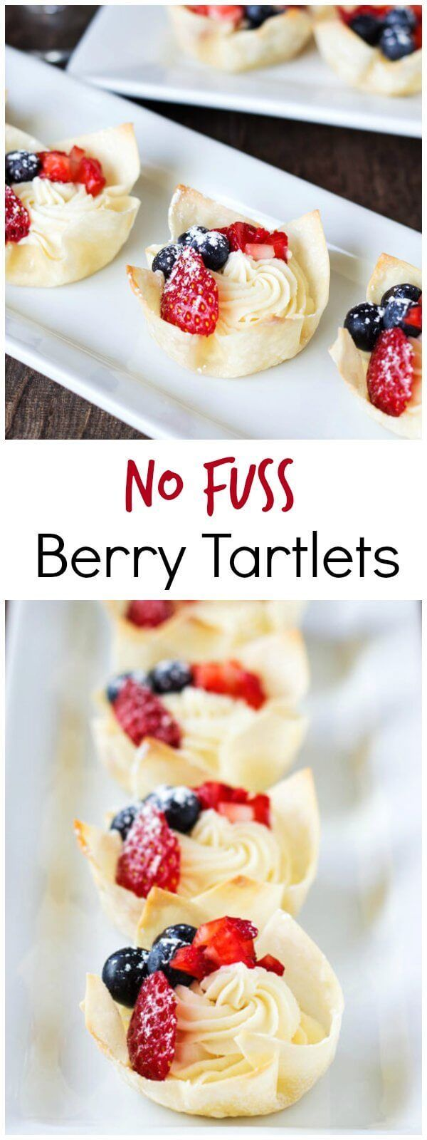 These crunchy, creamy, juicy mini berry tartlets are super easy to make. No pastry dough needed!