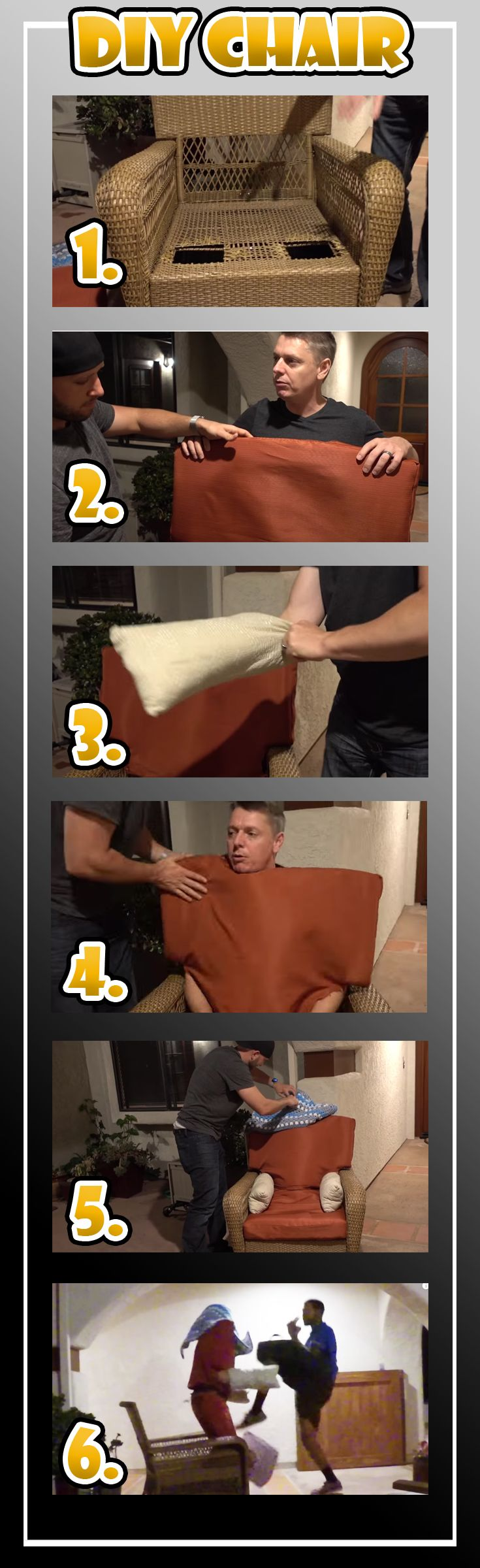 DIY HUMAN CHAIR PRANK!! This epic prank idea is best to pull on a pizza deliverer! Prank Kits here ➡ https://prankkits.com/