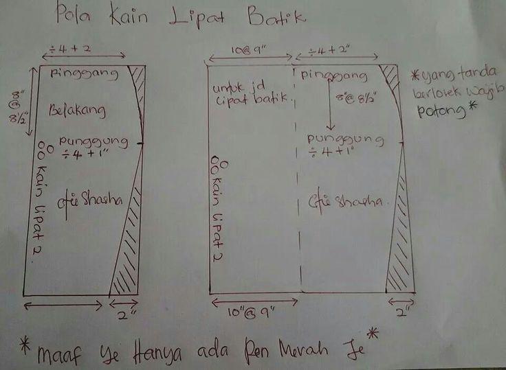 Pola kain lipat batik | kain | Pinterest
