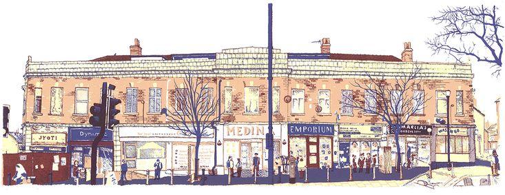 Chapeltown Road, screenprint by Simon Lewis
